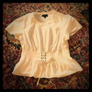 Must Have!! Corset peplum blouse 👚